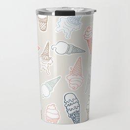 Colorful icecream for summertime Travel Mug