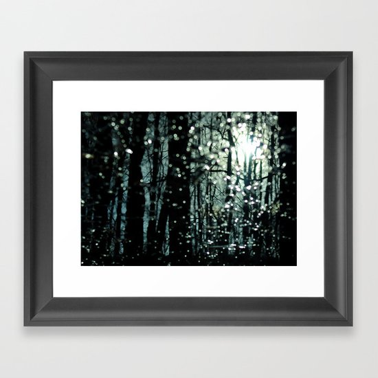 Blue Burns the Twilight Framed Art Print