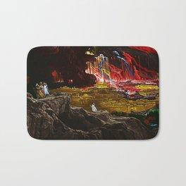 The Destruction of Sodom and Gomorrah Landscape Painting by Jeanpaul Ferro Bath Mat