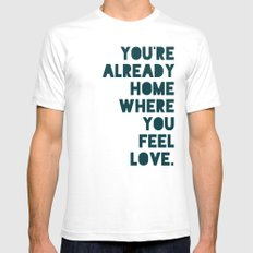 Home SMALL White Mens Fitted Tee