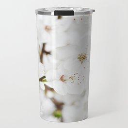 White blooming Travel Mug
