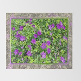 "TRUE SPECIE HARDY GERANIUM ""TINY MONSTER"" Throw Blanket"