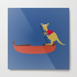 Kangaroo on Gondola Metal Print