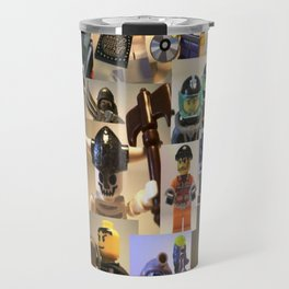 Customize My Minifig Montage of Custom Minifigures by Chillee Wilson Travel Mug