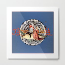Bosch Flying Fish Couple Metal Print