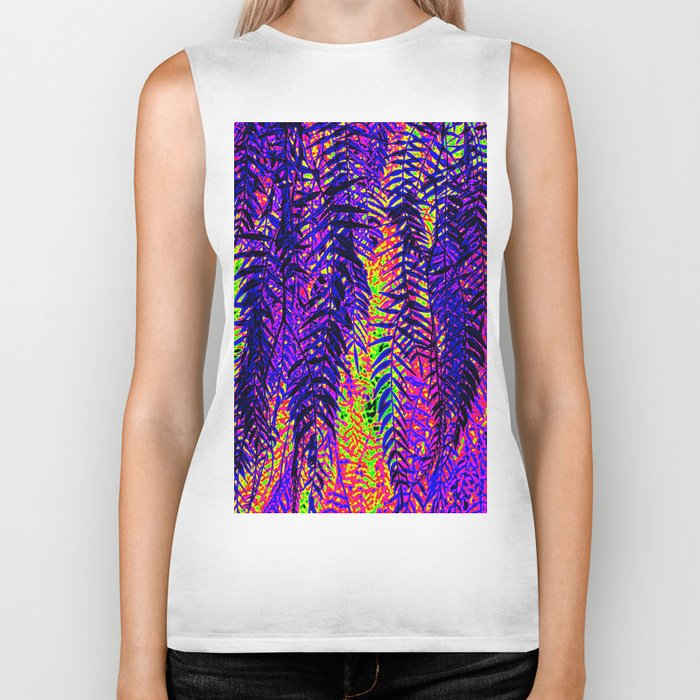 nature abstract Biker Tank