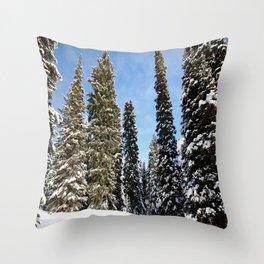 Targhee Trees Throw Pillow