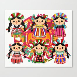 Mexican Dolls Canvas Print