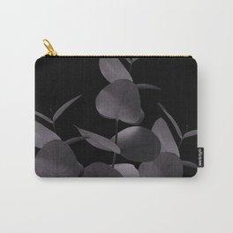 Eucalyptus Leaves Black Black #1 #foliage #decor #art #society6 Carry-All Pouch