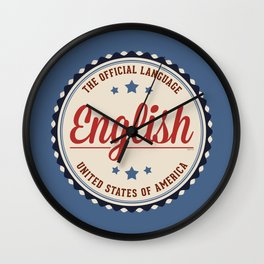 USA Official Language Wall Clock