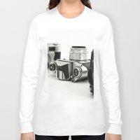 cameras Long Sleeve T-shirts featuring cameras by Falko Follert Art-FF77