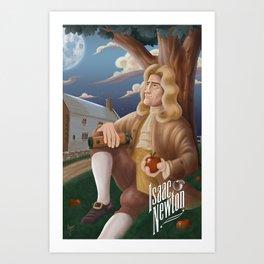 Isaac Newton poster Art Print