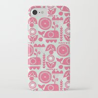 folk iPhone & iPod Cases featuring folk whale by ottomanbrim
