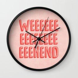 Weekend Wall Clock