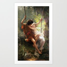 Spring By Pierre Auguste Cot Art Print