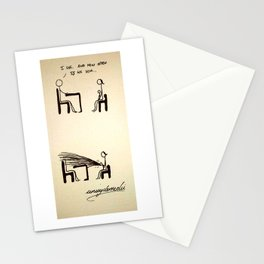 Vomiting Stationery Cards