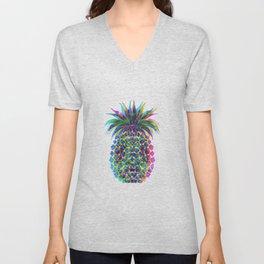 Pineapple CMYK Unisex V-Neck