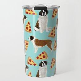 Saint Bernard pizza slices funny cute dog gifts for dog lover unique dog breeds Travel Mug