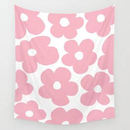 Pastel Pink Daisies - Large Flowers – Floral Pattern Decor Wall Tapestry