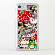Gamblers Delight - Las Vegas Icons Clear iPhone Case