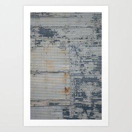 Warehouse District -- Rustic Industrial Farm Chic Abstract Art Print