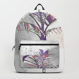 Painted Palm Gray Backpack