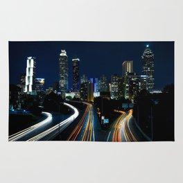 Atlanta Night Skyline Rug