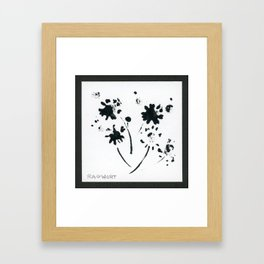 001/100: RAGWORT [100 Day Project 2020] Framed Art Print