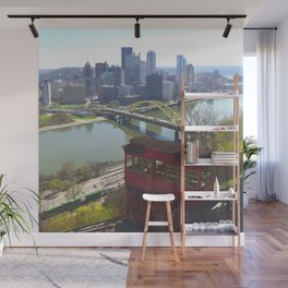 Downtown Pittsburgh point and incline 32 Wall Mural