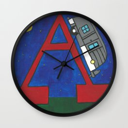 A is for Airstream Wall Clock
