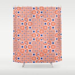 Orange Crush! A Pop Of Orange And Blue. Shower Curtain