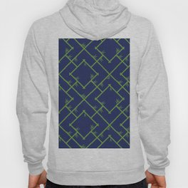 Bamboo Chinoiserie Lattice in Navy + Green Hoody