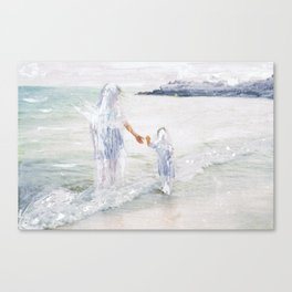 On the Shore: Thetis and Achilles Canvas Print