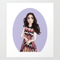 Lily Collins Art Print