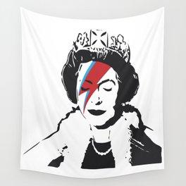 Queen Elizabeth As Ziggy, Banksy, Streetart Street Art, Stardust Grafitti, Artwork, Design For Men, Wall Tapestry