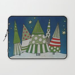 Night in the Winter Forest Laptop Sleeve