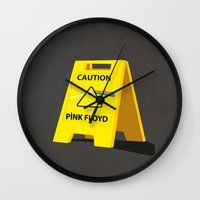 floyd Wall Clocks featuring Pink Floyd by gunberk
