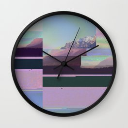 Freeze Dried Mountains Wall Clock