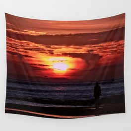 As the Sun goes down Wall Tapestry