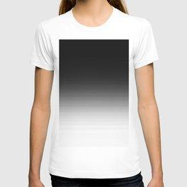 Black & White Ombre Gradient T-shirt