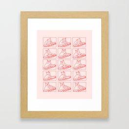 Cat in Meme Major Framed Art Print