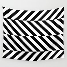 Black and White Op Art Design Wall Tapestry