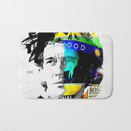 Ayrton Senna do Brasil - White & Color Series #4 Bath Mat