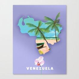 Venezuela map Canvas Print