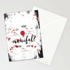 Quote from Illuminae by Jay Kristoff and Amie Kaufman Stationery Cards