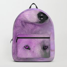 PURPLE WOLF FLOWER SPARKLE Backpack