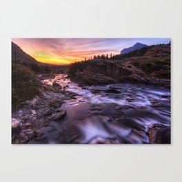 Falls at first light Canvas Print