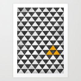 Triangle - Yellow III Art Print
