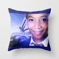 model Throw Pillows featuring Model by Azeez Olayinka Gloriousclick