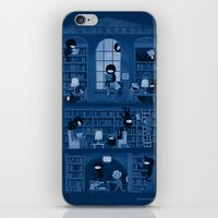 library iPhone & iPod Skins featuring Silence in the Library by Anna-Maria Jung